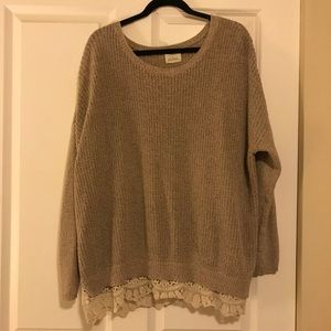 Pins & needles lace trim sweater
